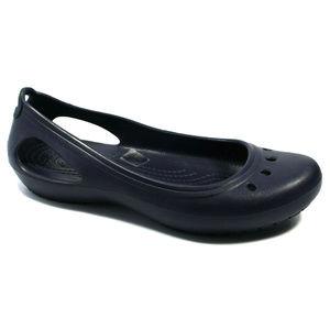 Crocs Womens Kadee Bloe Flats Size 7 NWT
